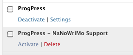 ProgPress -- NaNoWriMo Support in the Plugin Admin